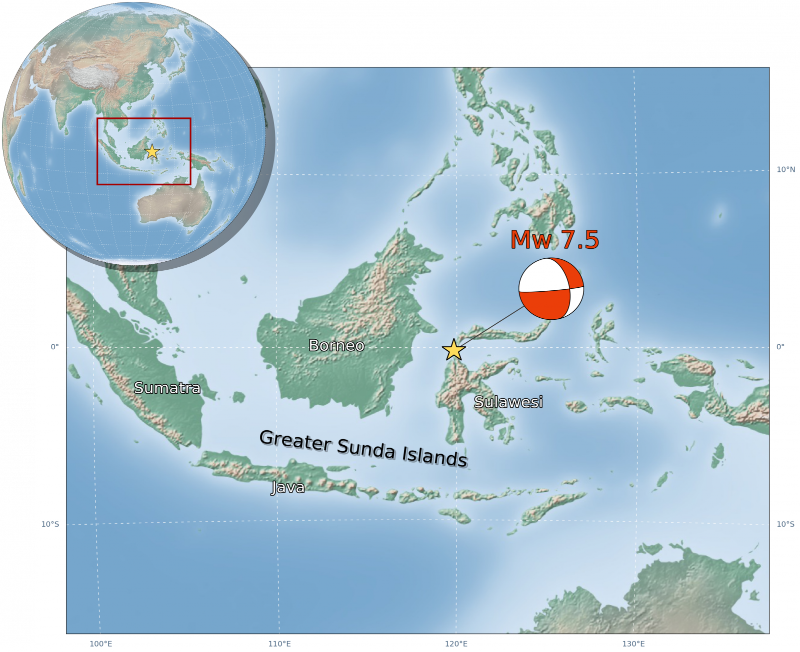 Greater Sunda Islands Location On Map