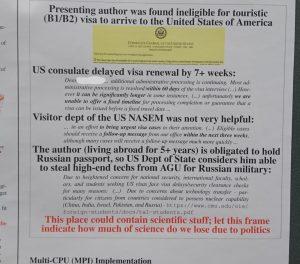 US visa denied for scientist