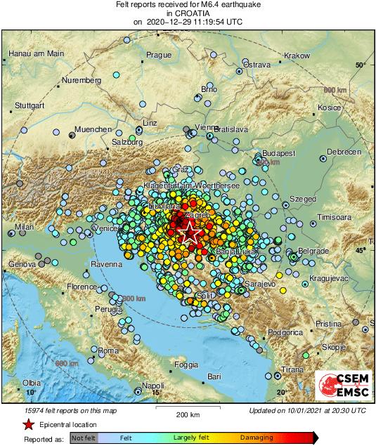 Seismology Earthquake Watch December Petrinja Mw 6 4