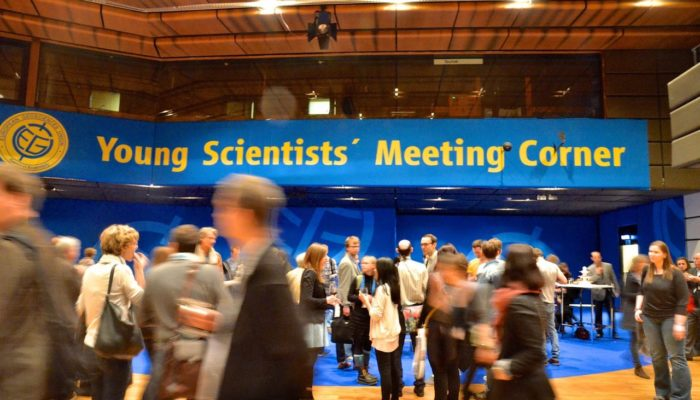 Young scientists meeting corner at EGU General Assembly