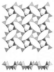 Phyllosilicate (apophyllite).