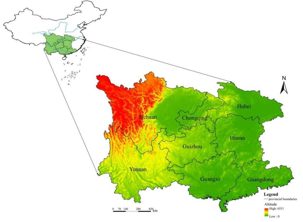 The main provinces of karst rocky desertification in southwest China. Image included in the original paper.