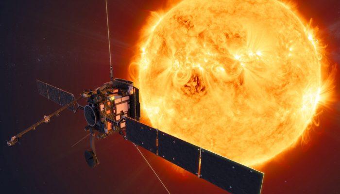 An artists impression of the Solar Orbiter spacecraft