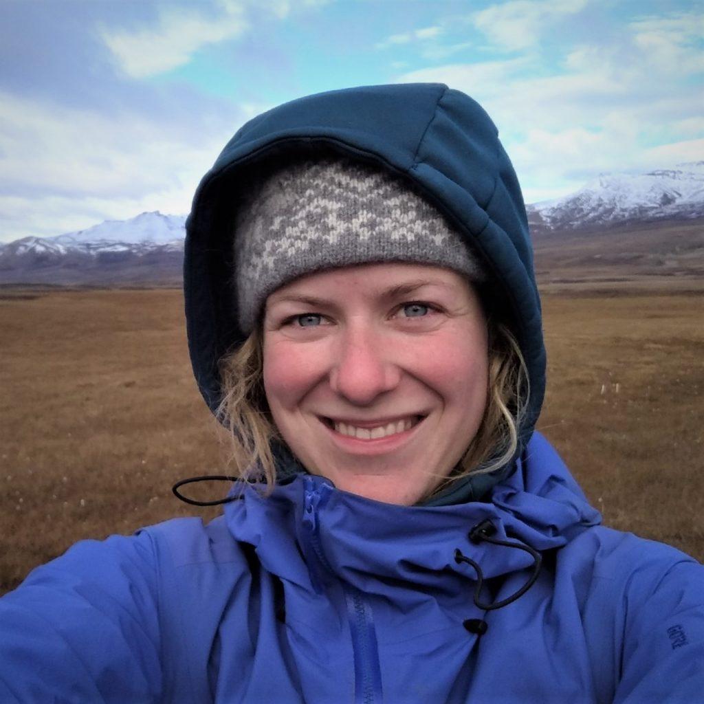 Photo of the author, Maria Scheel, during fieldwork.