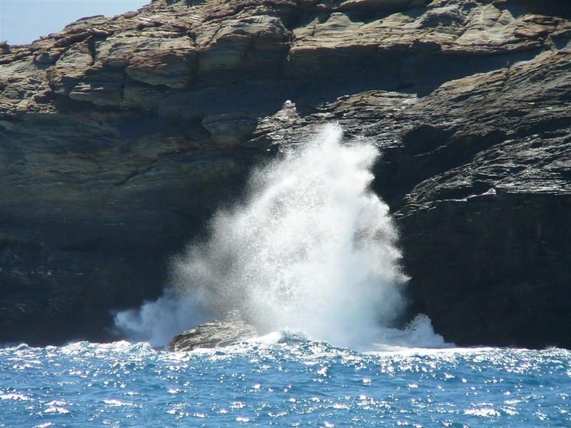 Rocks and Sea Waves in Andros Island, Greece by Ioannis Daglis, distributed by EGU under a Creative Commons licence.