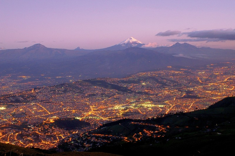 Quito and Cotopaxi by Martin Mergili, distributed by EGU under a Creative Commons licence.