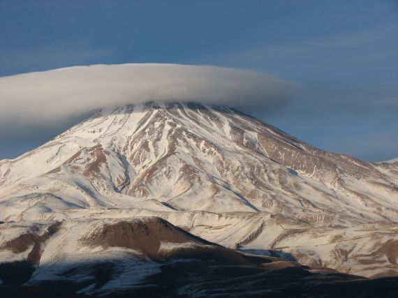 """""""Damavand Volcano, Tehran (Iran)"""" by Mostafa Ganjian. This image is distributed by the EGU under a Creative Commons Licence."""