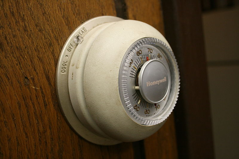 "Honeywell's iconic thermostat, also called ""The Round"". (Credit: Flickr user midnightcomm)"