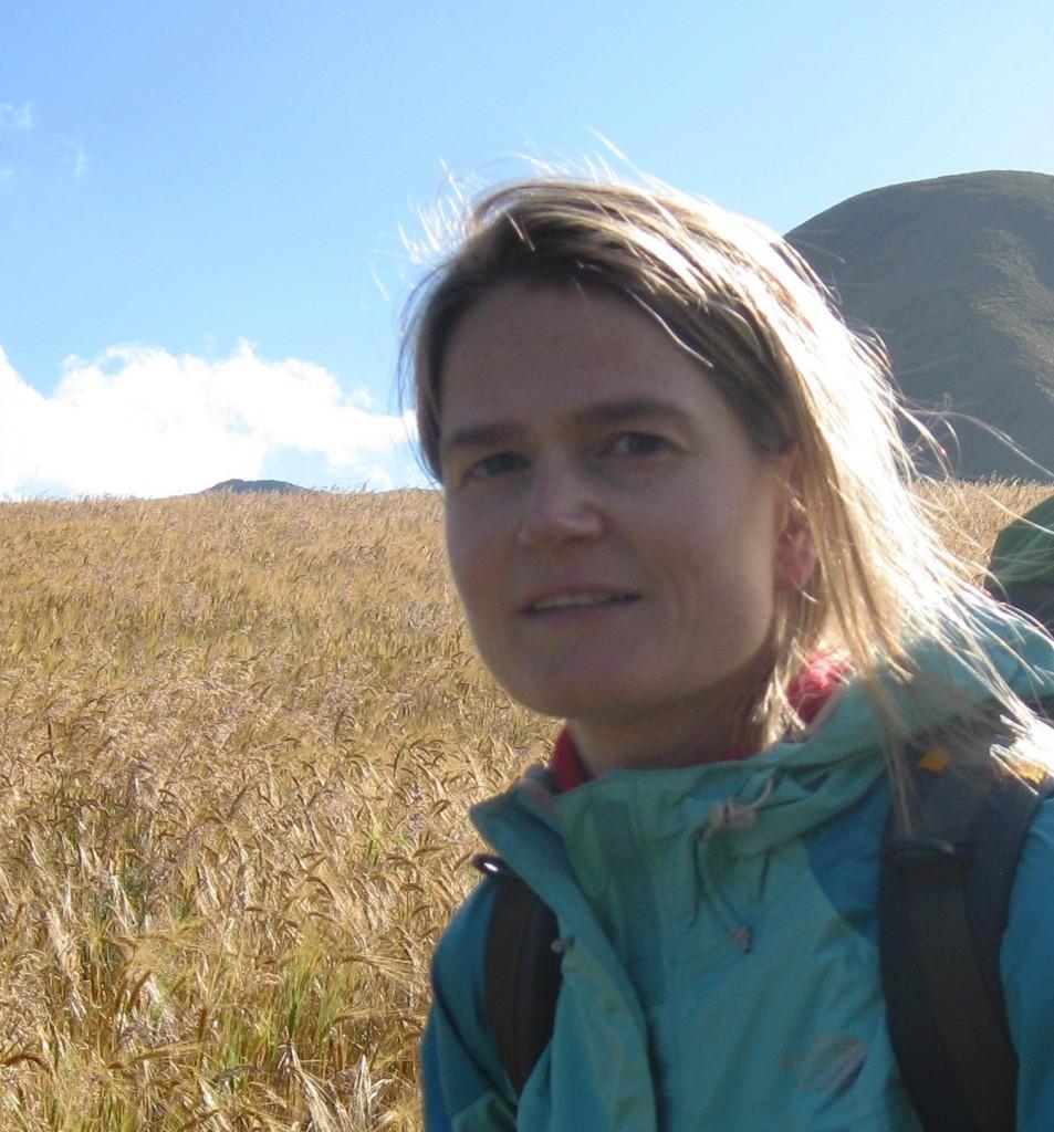 Veerle Vanaker out in the field (literally!). (Credit: Veerle Vanaker)