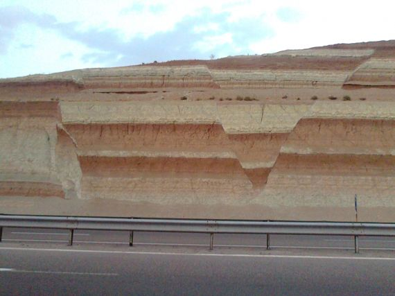 """""""Road cutting"""" by Bahram Sadry. Distributed by the EGU under a Creative Commons licence."""