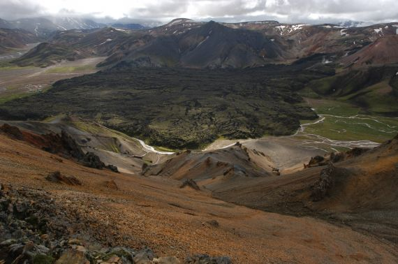 """Lava outflow in Iceland"" by Wolfgang Schwanghart, who took this photo at Landmannalaugar in the Icelandic highlands. This image is distributed by the EGU under a Creative Commons licence."