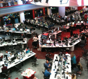 Inside the BBC –  a hive of activity!
