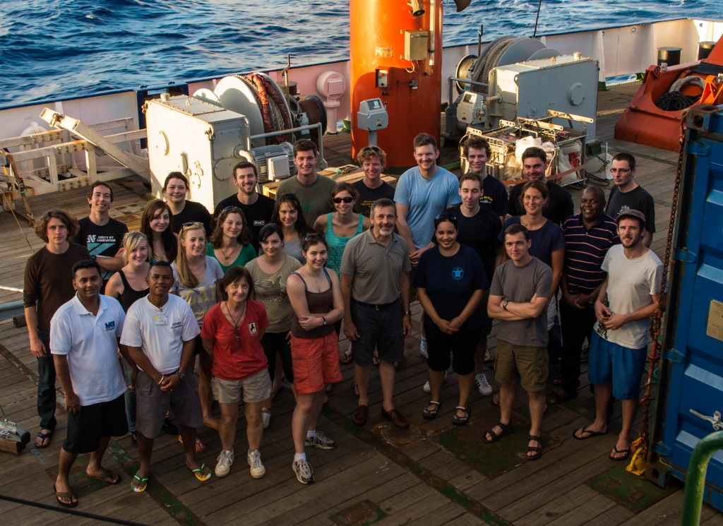 The participants of cruise M102. (Credit: Jens Weiser)