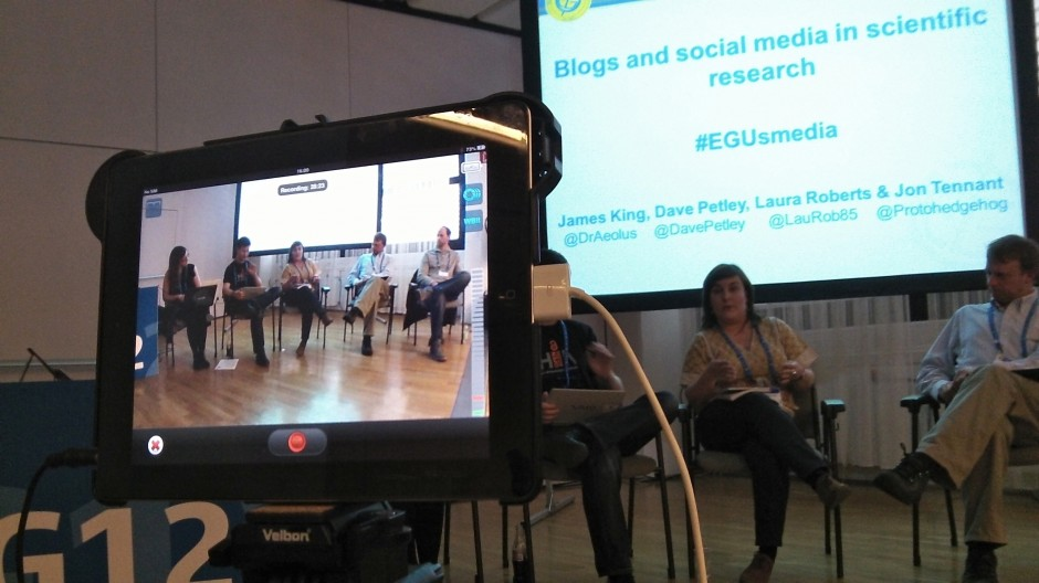 Science communication short course at EGU 2013. (Credit: Sue Voice)