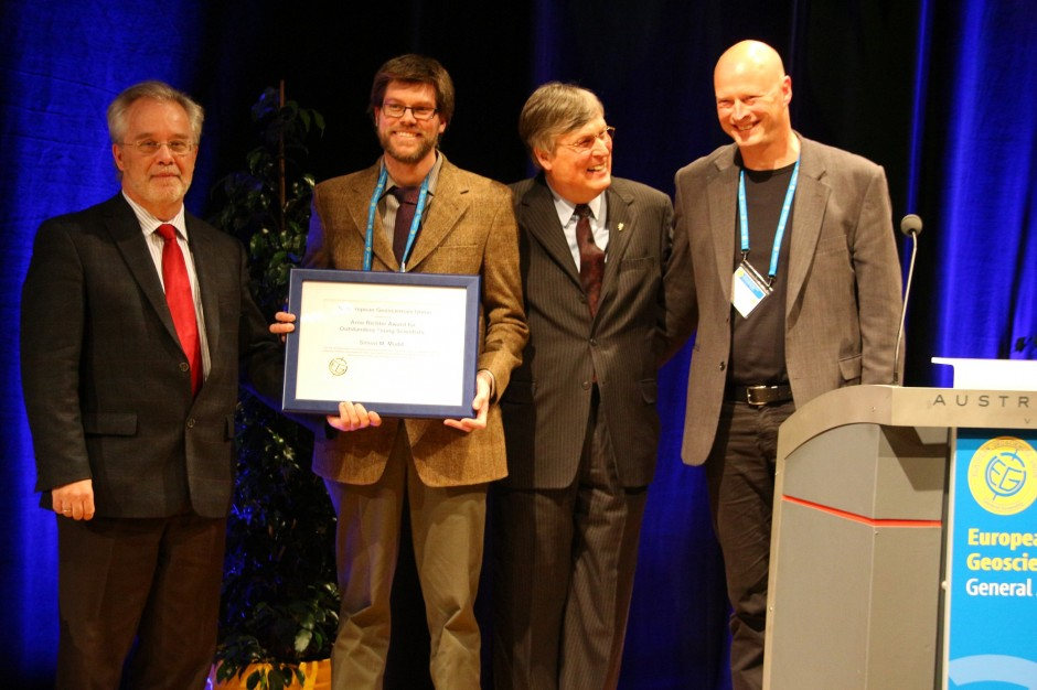 Simon Mudd – awarded one an Arne Richter Outstanding Young Scientist Award at EGU 2013.
