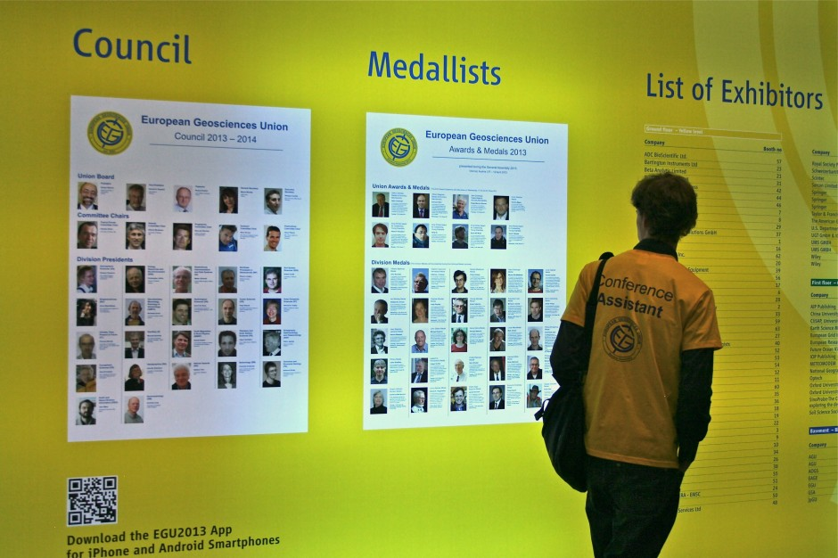 Taking a look at last year's medallists. (Credit: Sue Voice)