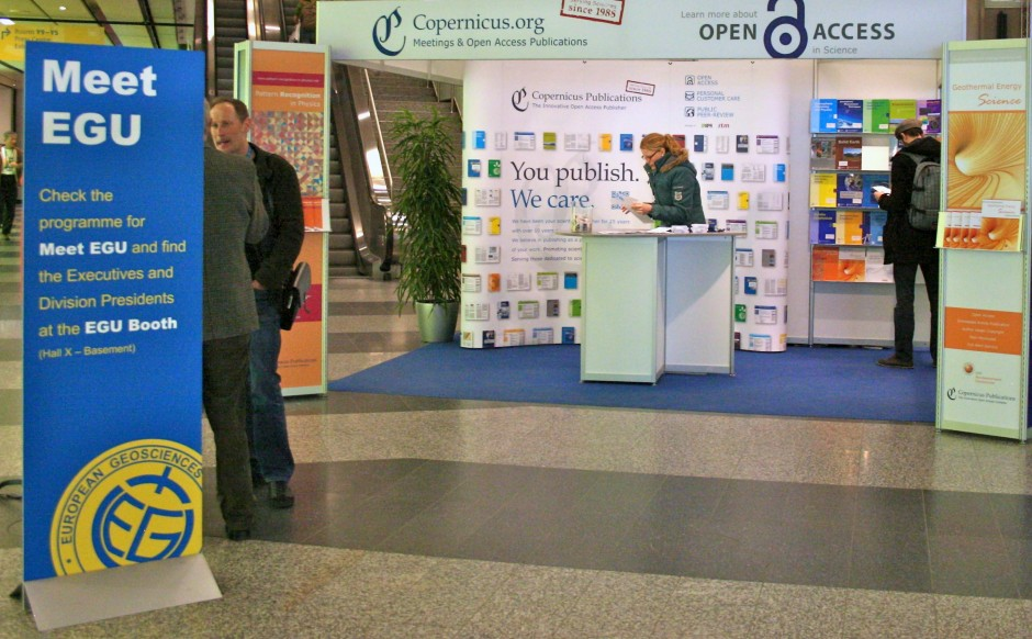 Need to put a face to the name? Just head to the EGU booth!