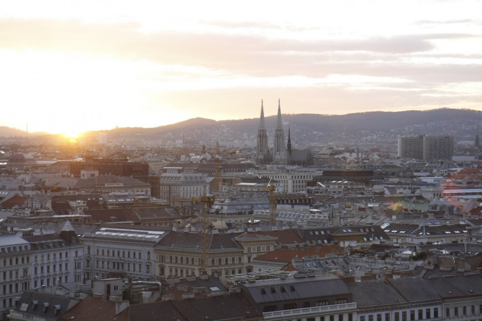 Vienna at sunsest. (Credit: Flickr user cadoc)