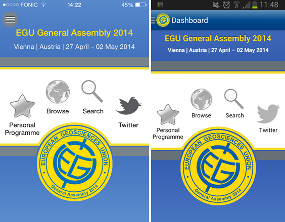 Spot the difference! The dashboard on the iPhone and Android app.