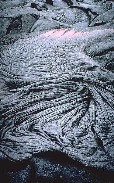 Pahoehoe flow. (Credit: Tari Noelani Mattox, USGS)