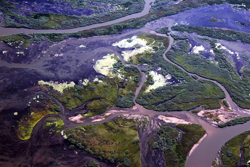Where the Selenga River meets Lake Baikal. (Credit: Galina Shinkareva via imaggeo.egu.eu)
