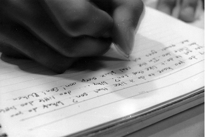 Putting pen to paper. (Credit: Flickr user Witheyes)