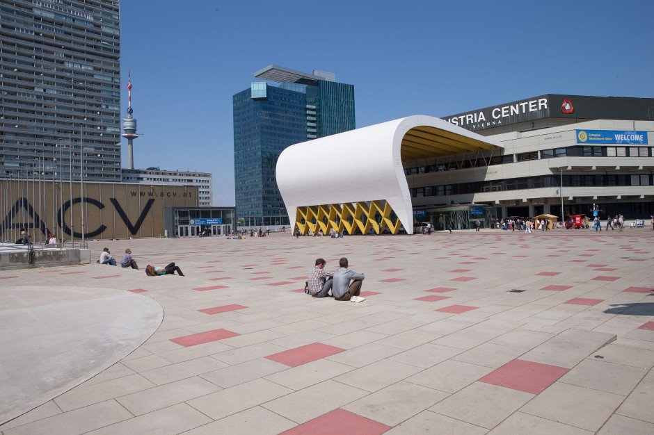 Outside the conference centre during EGU 2014