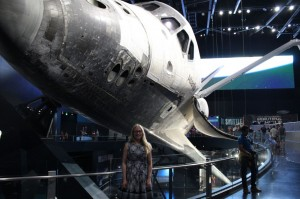 Let me introduce Beate, pictured here with the space shuttle. (Credit: Beate Humberset).