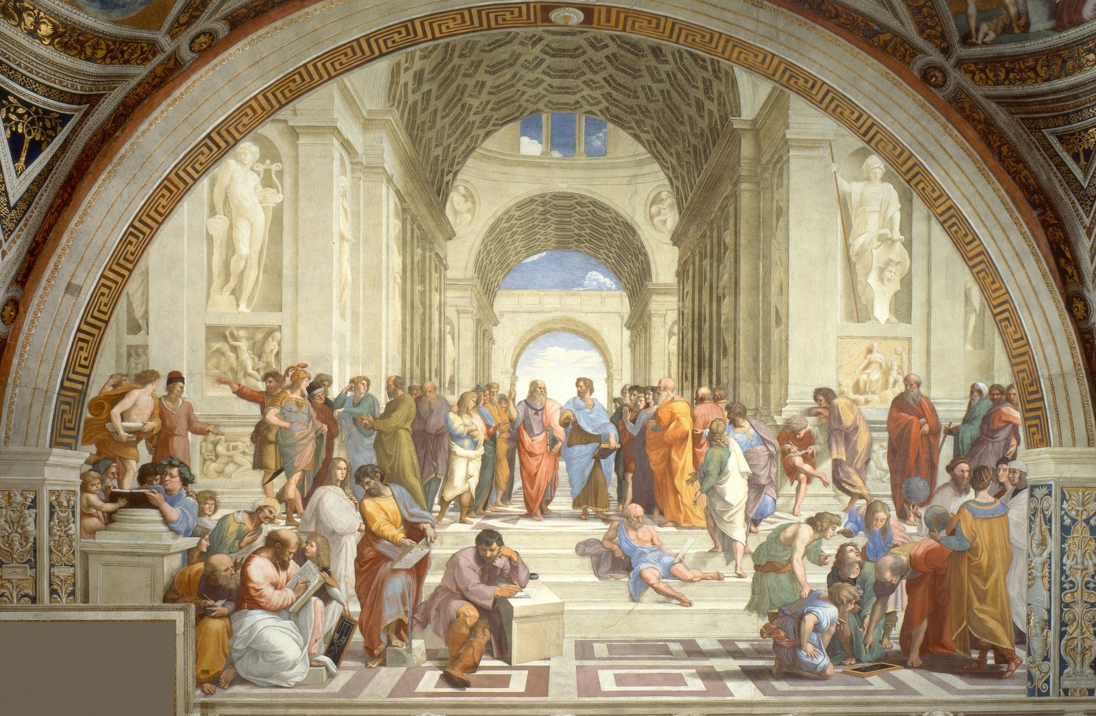 Debating, Ancient Greece style (Photo Credit: Raphael [Public domain], via Wikimedia Commons)