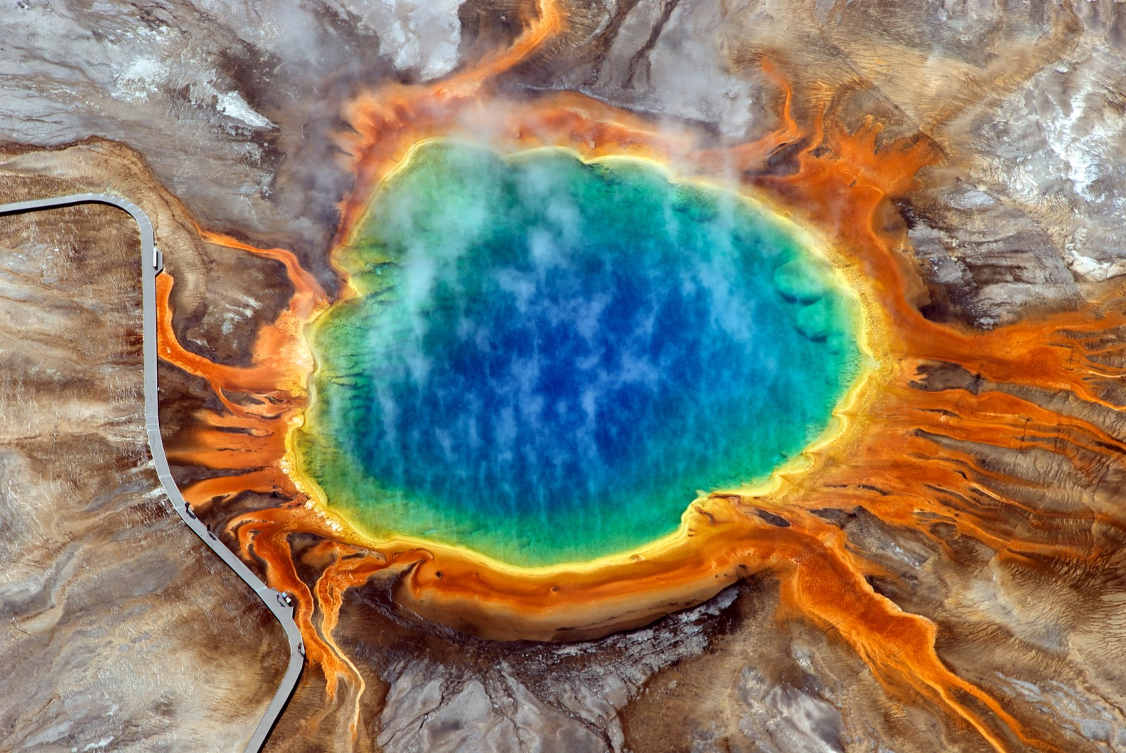 Grand Prismatic Spring. Winner in the EGU Photo Contest 2010. (Credit: David Mencin (distributed via imaggeo.egu.eu)