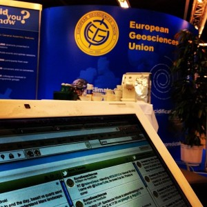 The view from social media HQ at EGU 2012.