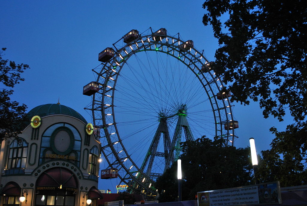 Riesenrad  ferris wheel. Credit: Maatex, distributed via Wikimediacommons)