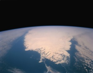 Southern Tip of Greenland.  Satellite Image by  NASA. Source: Wikimedia Commons