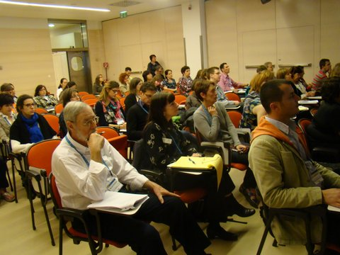 Participants of the GIFT workshop at the 2015 General Assembly. Credit: Michael J. Passow, Earth Science Correspondent for the Teachers Clearinghouse for Science and Society Education Newsletter.