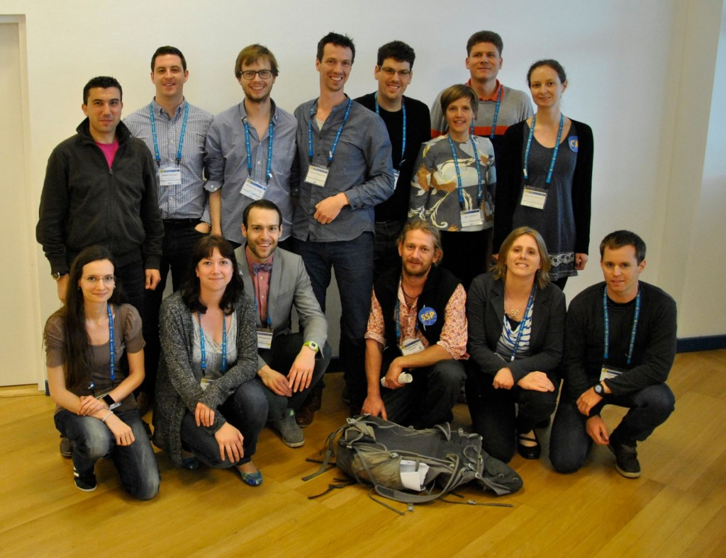 Some of the ECS Representatives at the most recent General Assembly in Vienna. From left to right, top to bottom: Matthew Agius (SM), Shaun Harrigan (HS),
