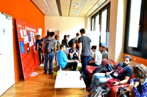 The young scientists' lounge at EGU 2014. Credit: Stephanie McClellan/EGU