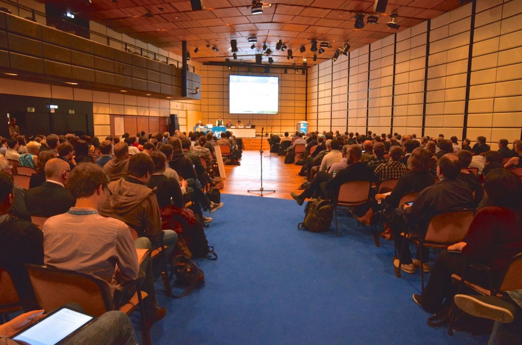 A Union-wide session at the 2015 General Assembly. (Credit: EGU/Stephanie McClellan)