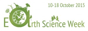 The 2015 Geological Society of London Earth Science Week logo.