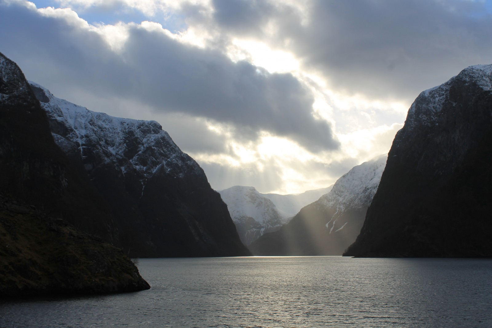 Nærøyfjord: The world's most narrow fjord . Credit: Sarah Connors (distributed via imaggeo.egu.eu)