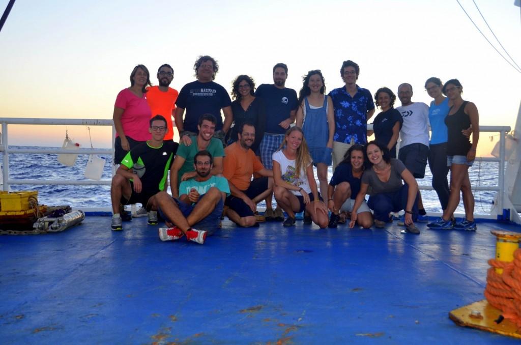First leg scientific crew on-board. Photo credits Sara Durante