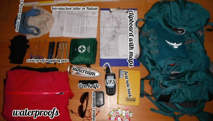What is in your field rucksack? Take a peek in Zoe Mildon's bag