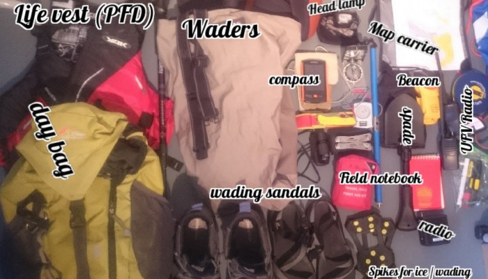 What is in your field rucksack? A trip to  Chilean Patagonia