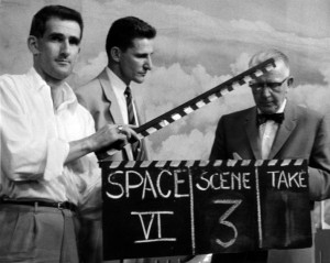 Clapperboard, by KUHT via Wikimedia Commons.