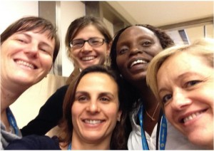 Anna (center) with other teachers at the 2015 GIFT workshop in Vienna. (Credit: Anna Elisabetta Merlini).