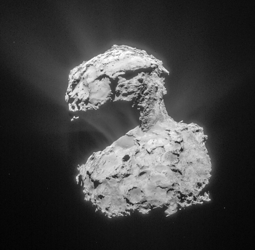 Comet 67P on 14 March 2015 – taken by the NavCam. Credit: ESA/Rosetta/NAVCAM – CC BY-SA IGO 3.0