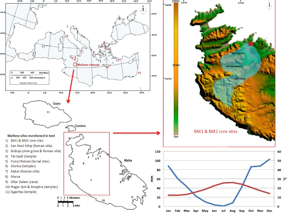 Weather patterns and climate in Malta for months