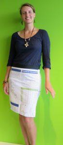 Sandra models her pencil skirt. Credit: REpost/ Sandra de Vries