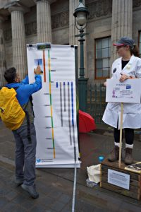 Photo taken at the Soapbox Science event courtesy of Sarah Caldwell (smcneem)