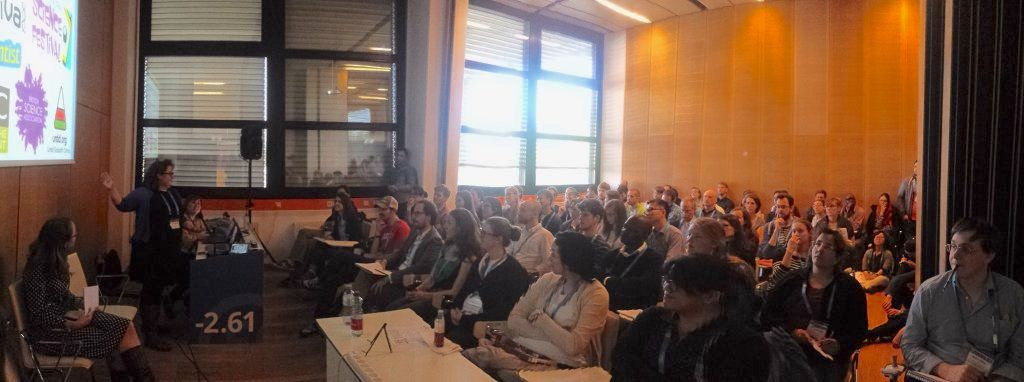 Rhian Meara during her presentation at the EGU 2016 short course