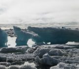 Sea ice breaking on the Chukchi Sea, Barrow, July 2014
